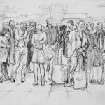 Euston Uplookers 23x16ins Charcoal £455