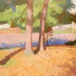 Sunlight on Two Pines 12x10ins £425