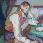 After Cezanne, Boy in a Red Vest, 12x14ins £625