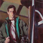 Self Portrait In Garden Shed 14x16ins £650