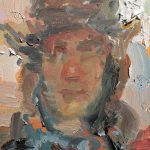 Self Portrait In Trapper Hat 6x8ins £285
