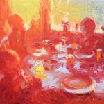 Teatime With Fizz Drinkers 12x12ins £595