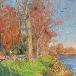 Autumn by the Ribble 20x14 ins SOLD