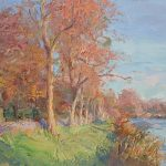 Evening by the River 20x14ins £925